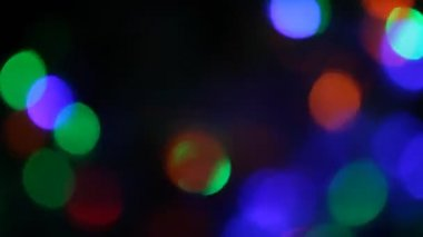 Christmas lights background — Stock Video
