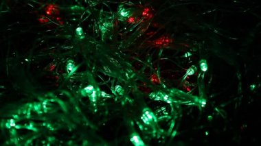 Christmas lights background — Stockvideo