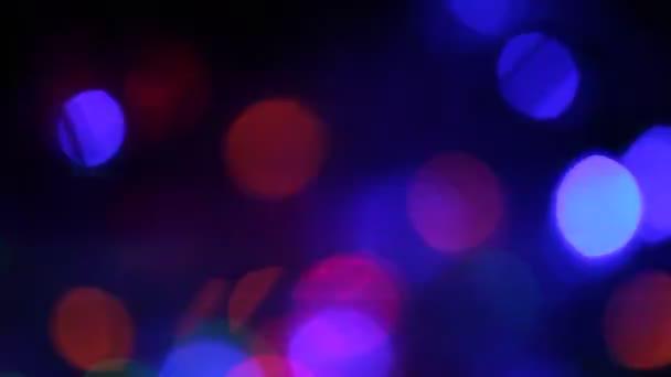 Fondo de luces de Navidad — Vídeo de stock