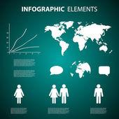 Elementos infográfico — Vetor de Stock