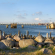Stock Photo: Breakwaters