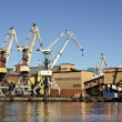 harbor cranes — Stock Photo