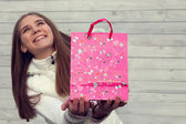 Shopping in Valentine's Day. — Стоковое фото