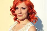 Bela garota ruiva — Fotografia Stock