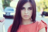 Piękna, smutna dziewczyna — Zdjęcie stockowe