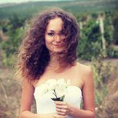 A beautiful bride — Stock Photo