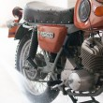 "Wash the motorcycle 'IZH Planeta Sport "" — Stock Photo"