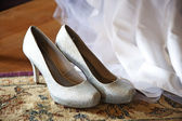 Silver shoes — Stock Photo