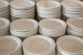 Stacks of dishes — Stock Photo