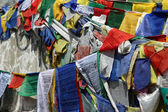 буддийские моля флаг от rothang пройти — Стоковое фото