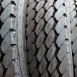 Stock Photo: Close up new truck black tire
