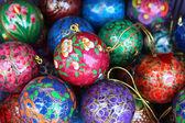 Bola de navidad de madera agradable en stock — Foto de Stock