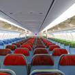 Detail of airplane interior with seats — Stock Photo #16416585