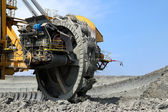 Detalle de la rueda de mineros en la mina de lignito — Foto de Stock