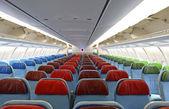Detail interiéru letadla se sedadly — Stock fotografie