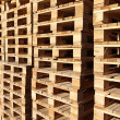 Stock Photo: Detail of stock wood pallet under sun light
