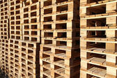 Detail of stock wood pallet under sun light — Stock Photo