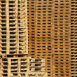 Stock Photo: Many wooden pallet store on factory yard