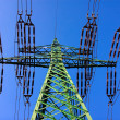 High power voltage steel tower — Stock Photo #18823563