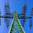 High power voltage steel tower — Stock Photo