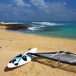 Windsurf on the sandy beach — Stock Photo