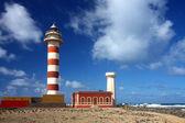 Lighthouse on fuerteventura island — Stock Photo