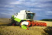 урожай машины работают на поле — Стоковое фото