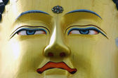 Detail of buddha face — Stock Photo