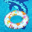 Ring in swimming pool — Stock Photo