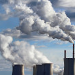 Smoking cooling towers of coal power plant — Stock Photo #21513695