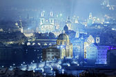 View of prague city with charles bridge — 图库照片