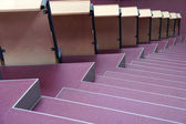 Seats with stairs in university hall — Стоковое фото