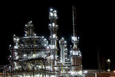 Night refinery factory for petrol production — Stock Photo