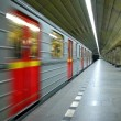 Subway train in motion — Stock Photo