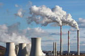 Emission from coal power plant — Стоковое фото