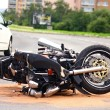Motorbike accident on city street — Stock Photo