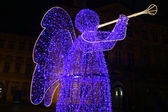 Silhouette of christmas angel — Stock Photo