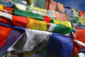 Buddhist flag in wind — Stock fotografie