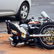 Motorbike accident on the city street — Stok fotoğraf