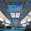 Stock Photo: Unfilled interior of passenger aircraft