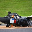 Stock Photo: Motorcycle accident on street