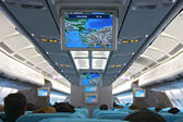 Unfilled interior of passenger aircraft — Stock Photo