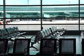 Interior of airport hall — Stock Photo