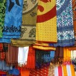Stock Photo: Detail of typically colorfull indifabrics
