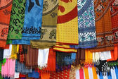 Detail of typically colorfull indian fabrics — Stock Photo