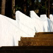 Stock Photo: Church stairs and white surounding wall