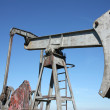 Oil well in Central Europe under blue sky — Stock Photo #29399639