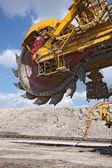 Detail of big excavator in coal mine in europe — Stock Photo
