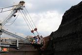 Brown coal huge excavator machine — Stock Photo