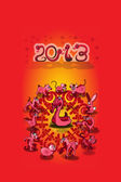 Chinese New Year 2013: Year of the Snake — Stock Vector
